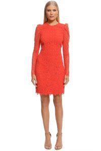 rebecca-vallance-mae-lace-mini-dress-orange-front