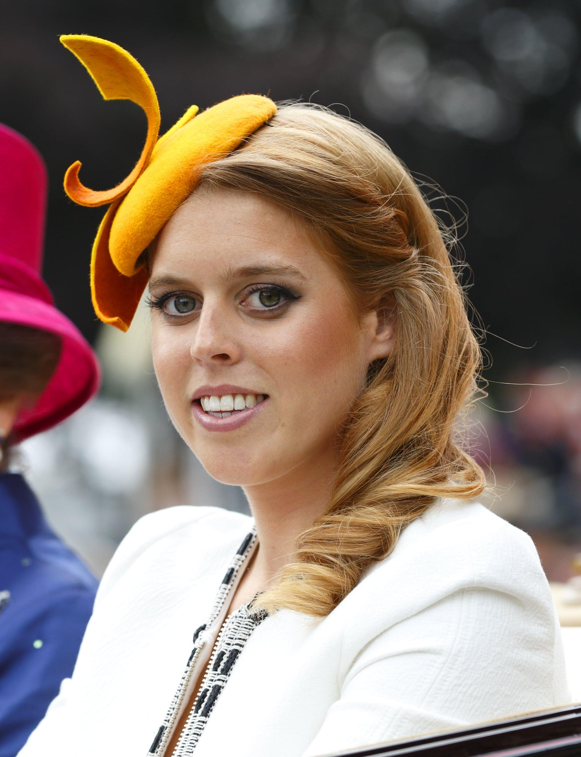 Princess Beatrice yellow headpiece