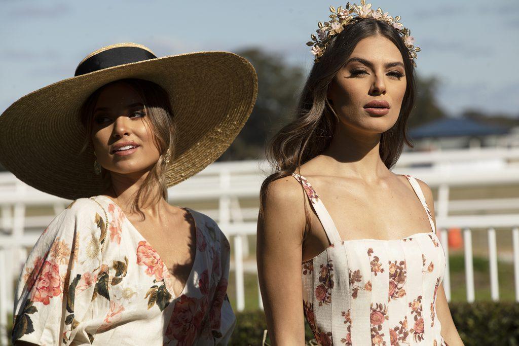 models-wearing-headwear-racing