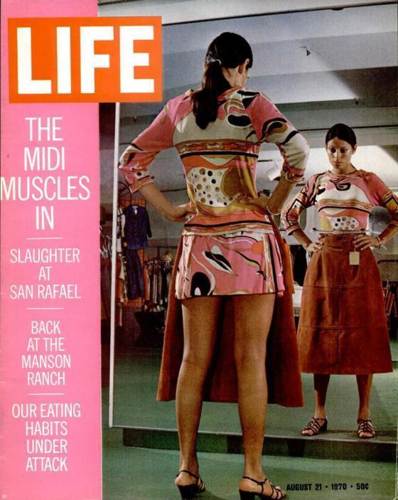 Time Magazine midi skirt