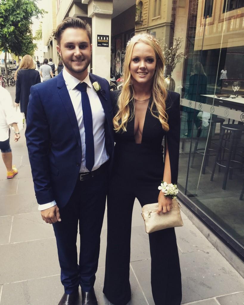 School formal hire with Carla Zampatti black Titania jumpsuit