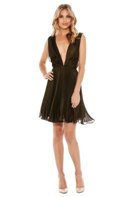 Fame & Partners - Khaki Flutter Dress - Front