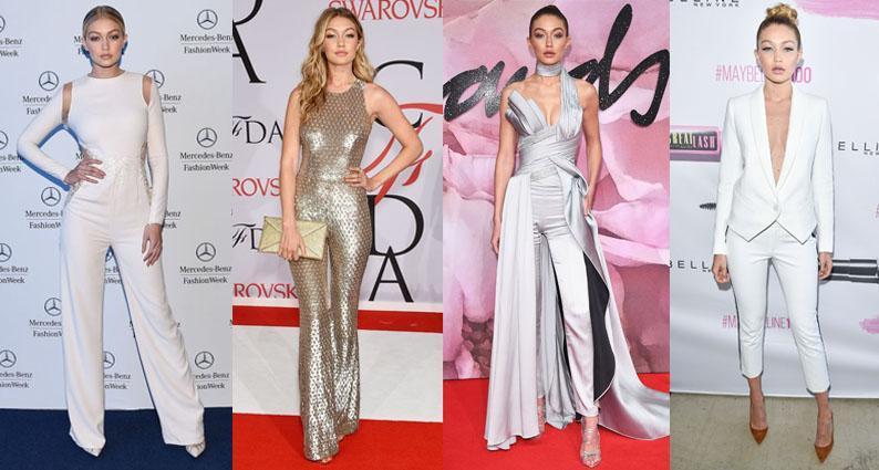 Gigi Hadid birthday pantsuit styles