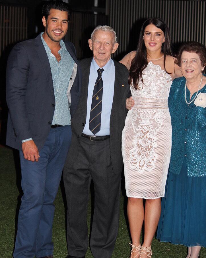Venetia with her family