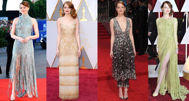 Emma Stone birthday embellished gowns
