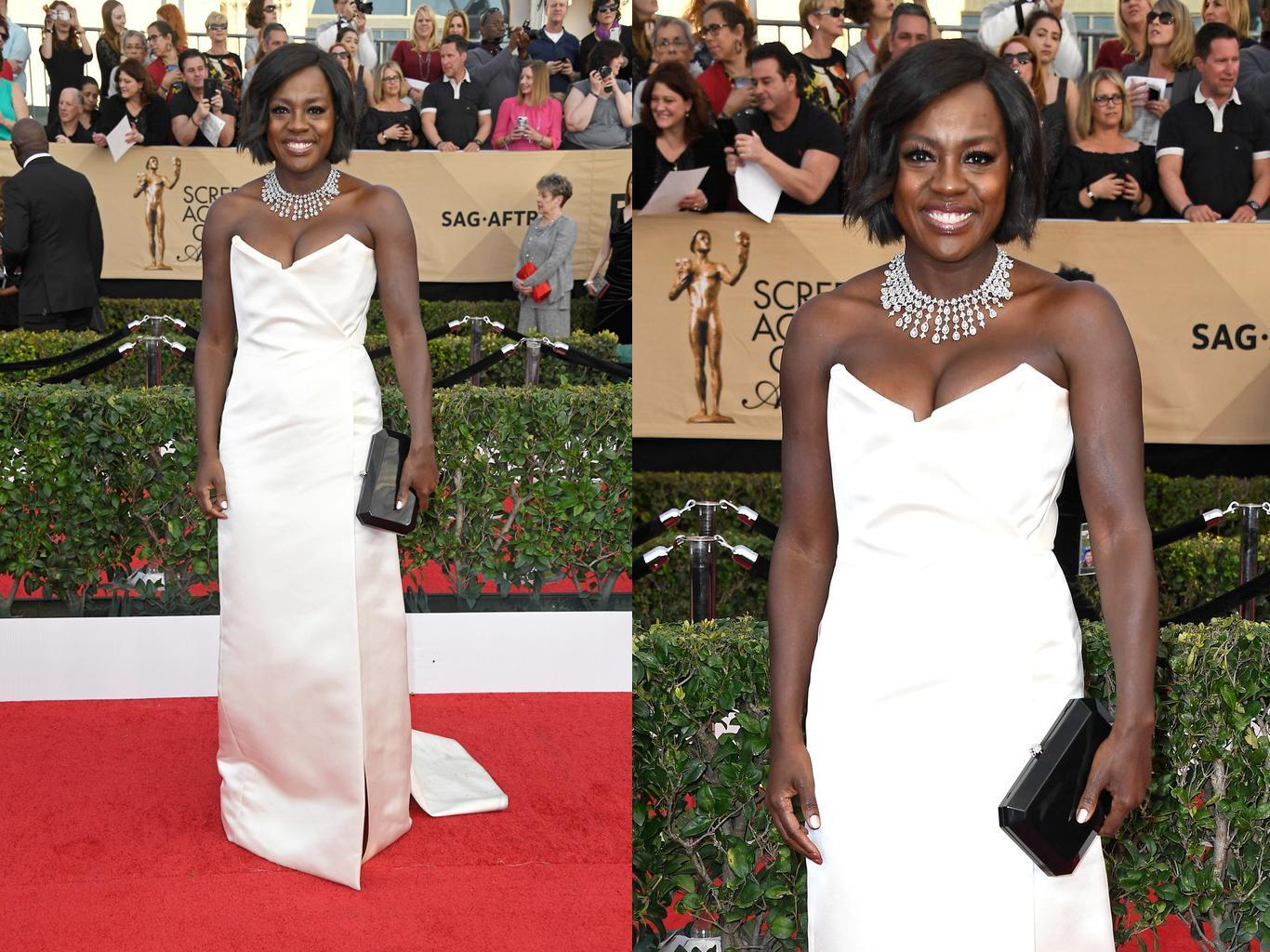 LOS ANGELES, CA - JANUARY 29: Actor Viola Davis attends The 23rd Annual Screen Actors Guild Awards at The Shrine Auditorium on January 29, 2017 in Los Angeles, California. 26592_008 (Photo by Frazer Harrison/Getty Images)