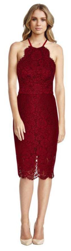 lover ruby oasis halter dress