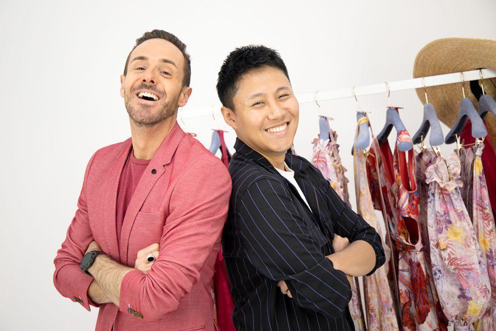 Celebrity Stylist Donny Galella and Leo Lin smiling together