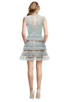 Self Portrait - Teardrop Guipure Paneled Mini Dress - Front