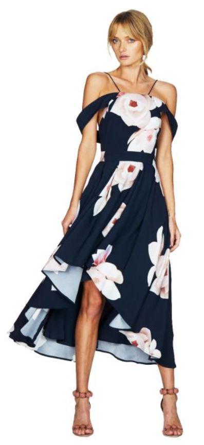 talulah floral affair midi dress one dress, three weddings