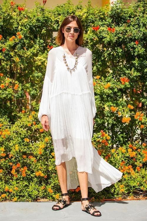 Sheer dress for a Christening