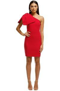 rebecca-vallance-hamptons-bow-mini-dress-poppy-red-front