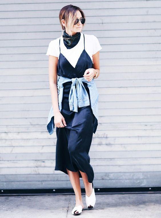 slip with t-shirt midi dresses