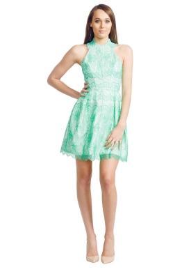 Nicola Finetti - Scallop Lace Dress - Front - Green