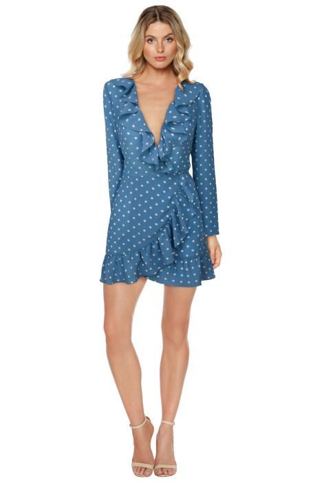 Realisation Par The Alexandra Dusty Blue Spot Dress