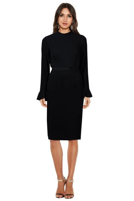 Maison Vivienne Rekindled Love Ruffle Back Midi Dress