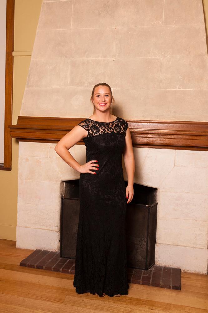 Molly in Langhem Elisa gown black