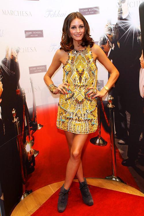 Olivia Palermo Yellow Beaded Dress