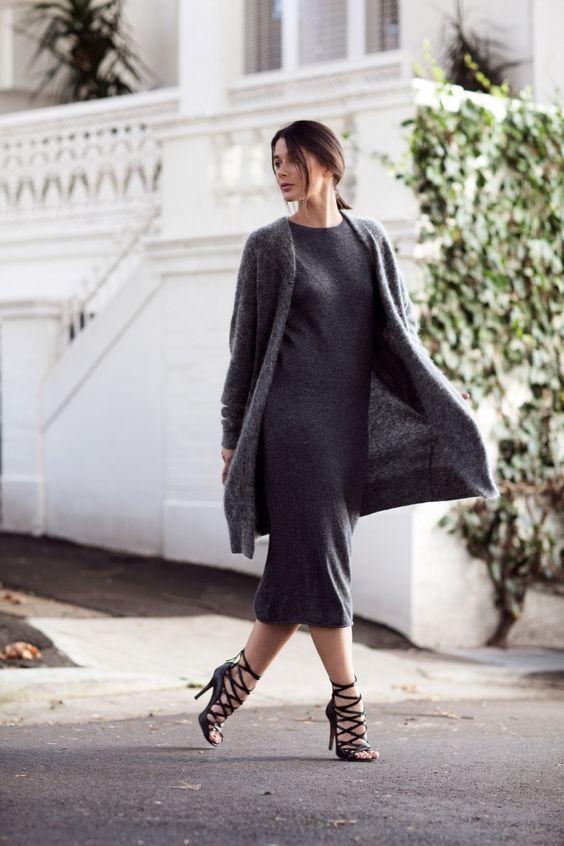 midi dresses and cardigan