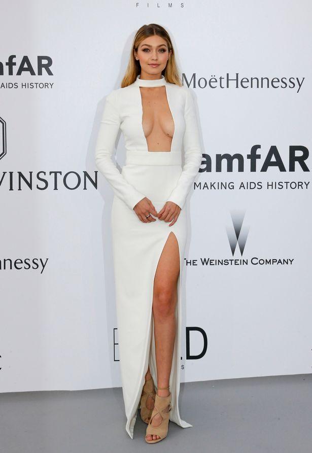 Gigi Hadid cut-out dress