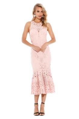 Lover - Harmony Cut Out Midi Dress - Sunset - Front