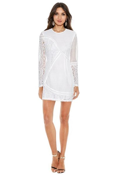 zimmermann anais lace dress in white instagram looks