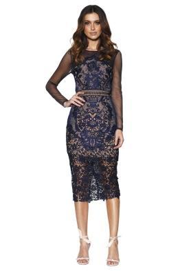 Grace & Hart - Renaissance Midi Dress - Navy - Front