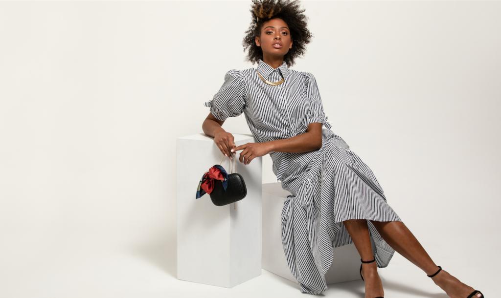 model-wearing-striped-dress
