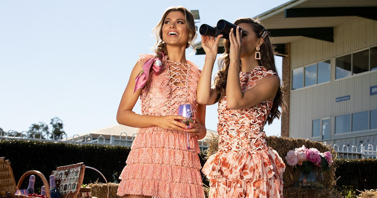 models wearing race style clothing