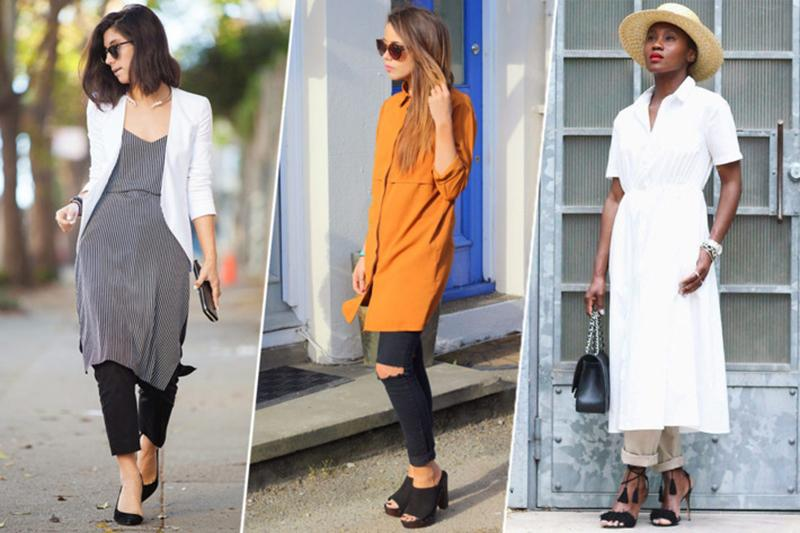 Dress-over-pants styling header