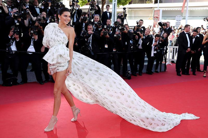 Kendall Jenner Cannes Festival Socks And Dress