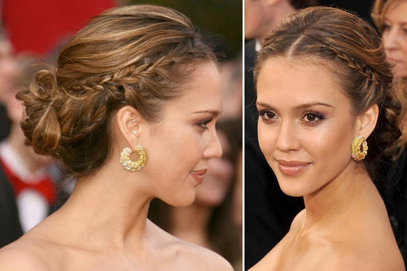 jessica alba blacktie hairstyle at the oscars