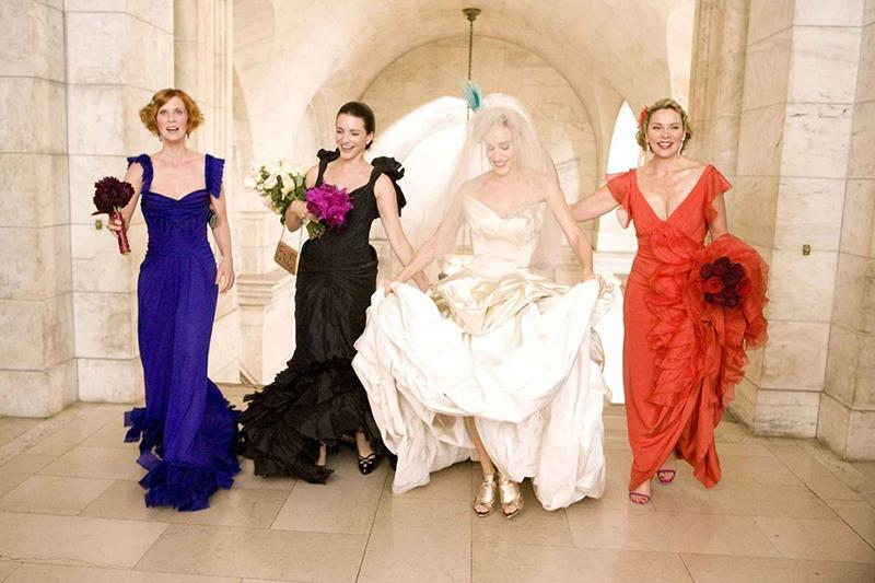 sex and the city wedding dresses