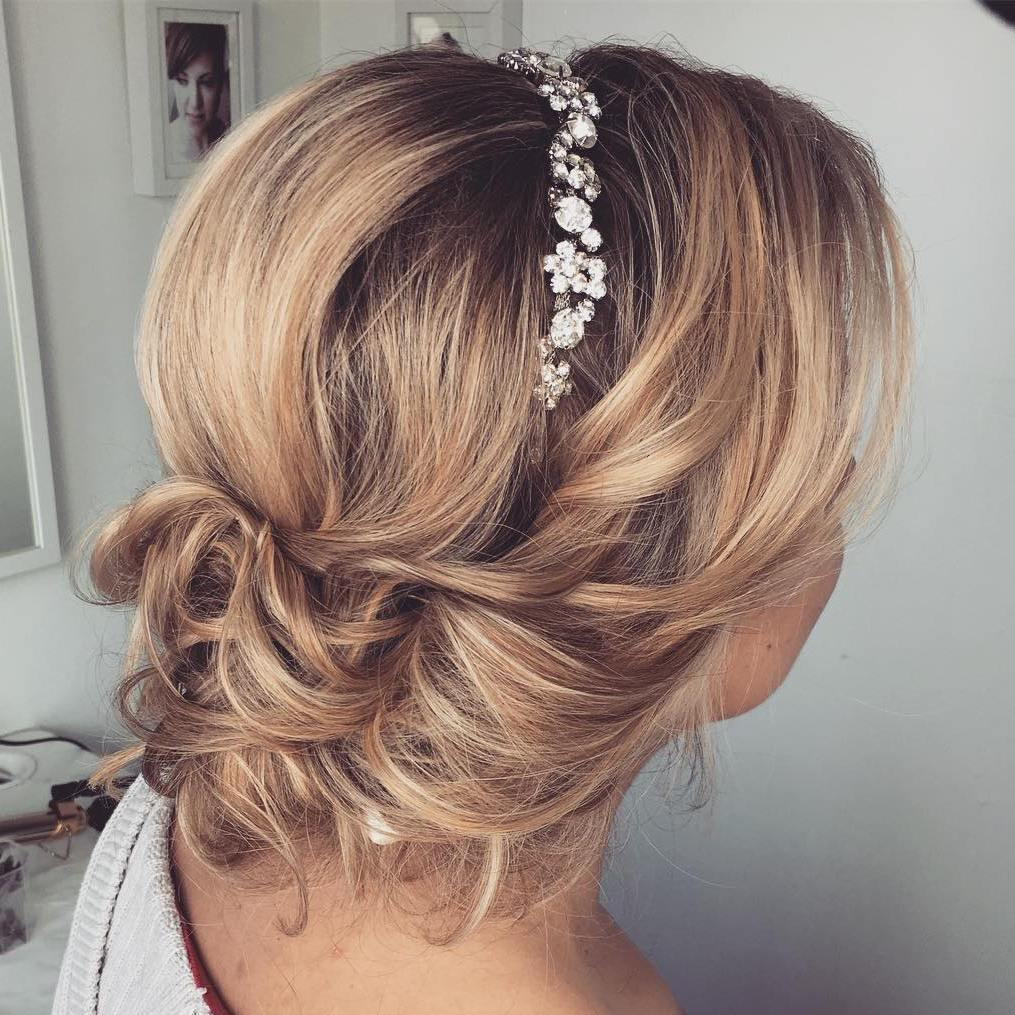 bridal up do for bob length hairstyles for wedding