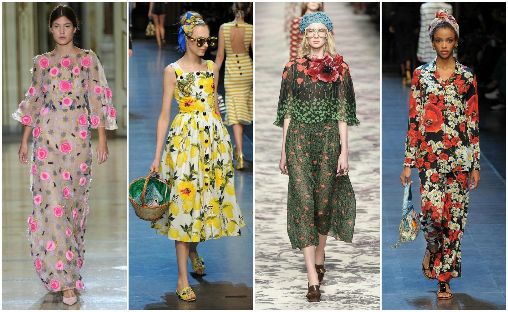 Gucci Spring Floral Dresses